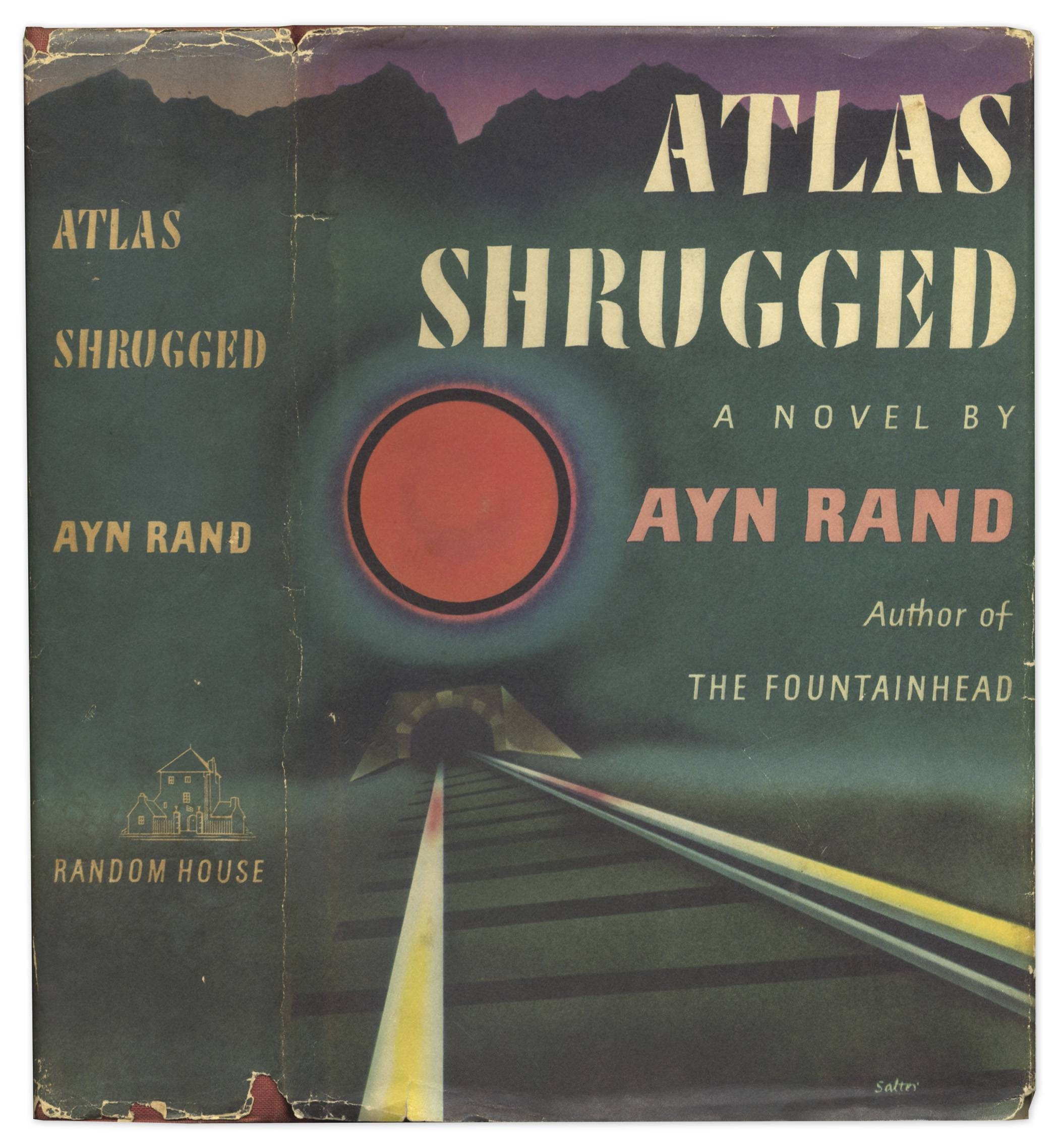 Lot Detail – Ayn Rand Signed First Edition Of ''atlas Shrugged'' Intended For Most Up To Date Atlas Shrugged Cover Art (View 19 of 20)