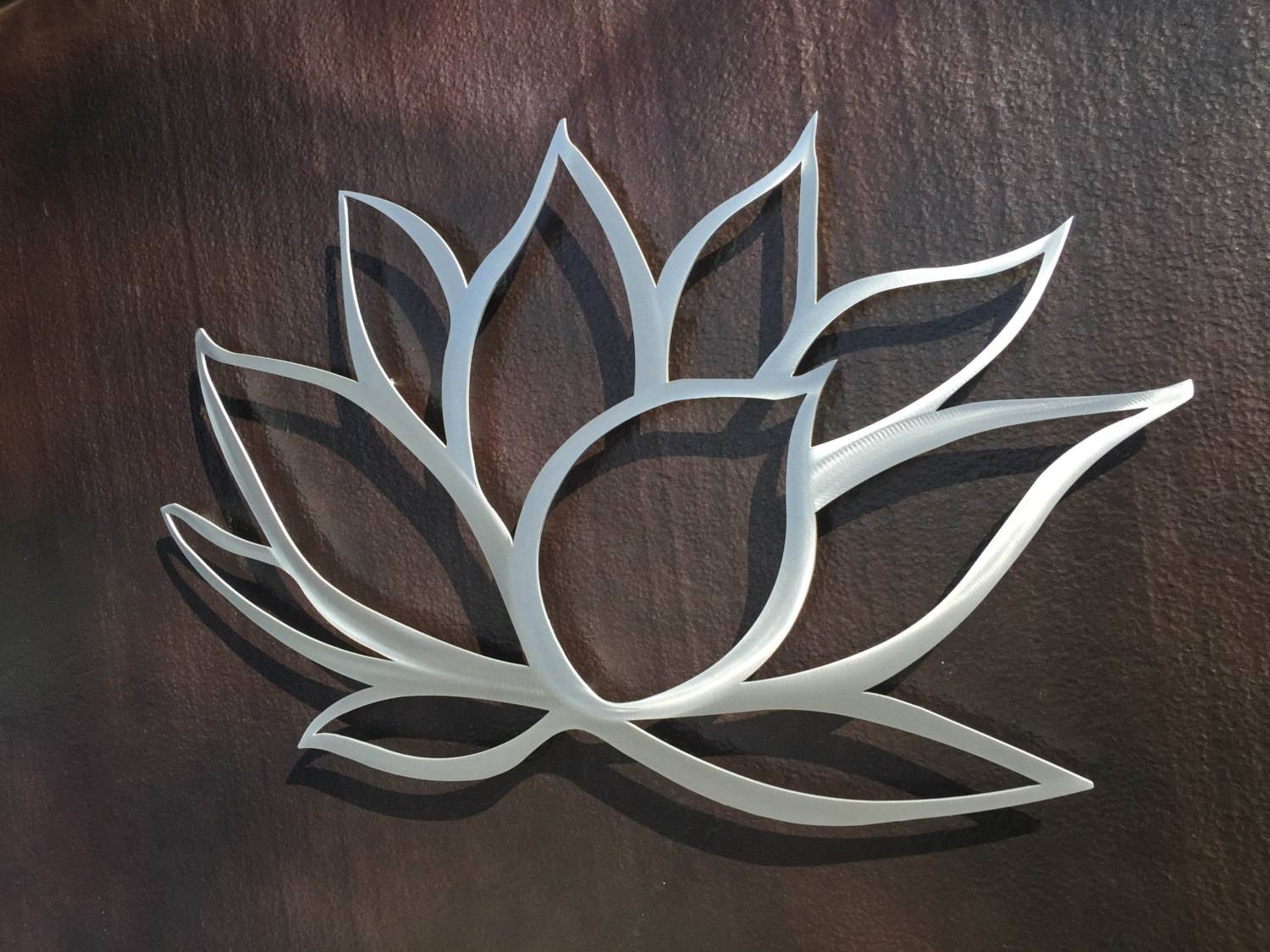 Lotus Flower Metal Wall Art Lotus Metal Art Home Decor For Most Up To Date Metal Wall Art (View 11 of 30)