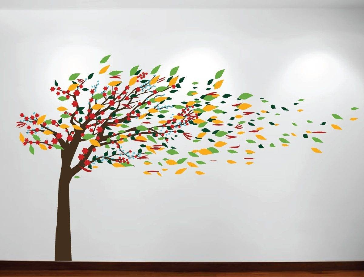 Lovable Large Photo Frame Family Tree Wall Decal Sticker Room Within Most Current Oak Tree Wall Art (View 10 of 30)