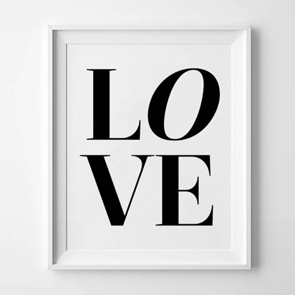 Love Wall Art Prints Modern Printable Wall Art Black White Inside Latest Black Love Wall Art (View 6 of 15)