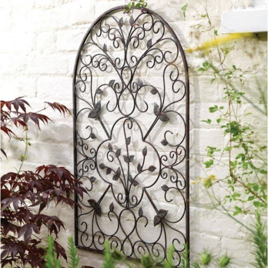 Lovely Ideas Outdoor Wrought Iron Wall Decor Trendy Inspiration Within Most Up To Date Stainless Steel Outdoor Wall Art (View 19 of 20)