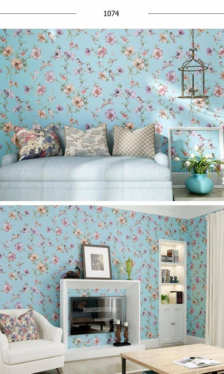 Luxury Chinese Classic Flowers Birds Wallpaper Romantic Country Throughout 2017 Country Style Wall Art (View 24 of 30)