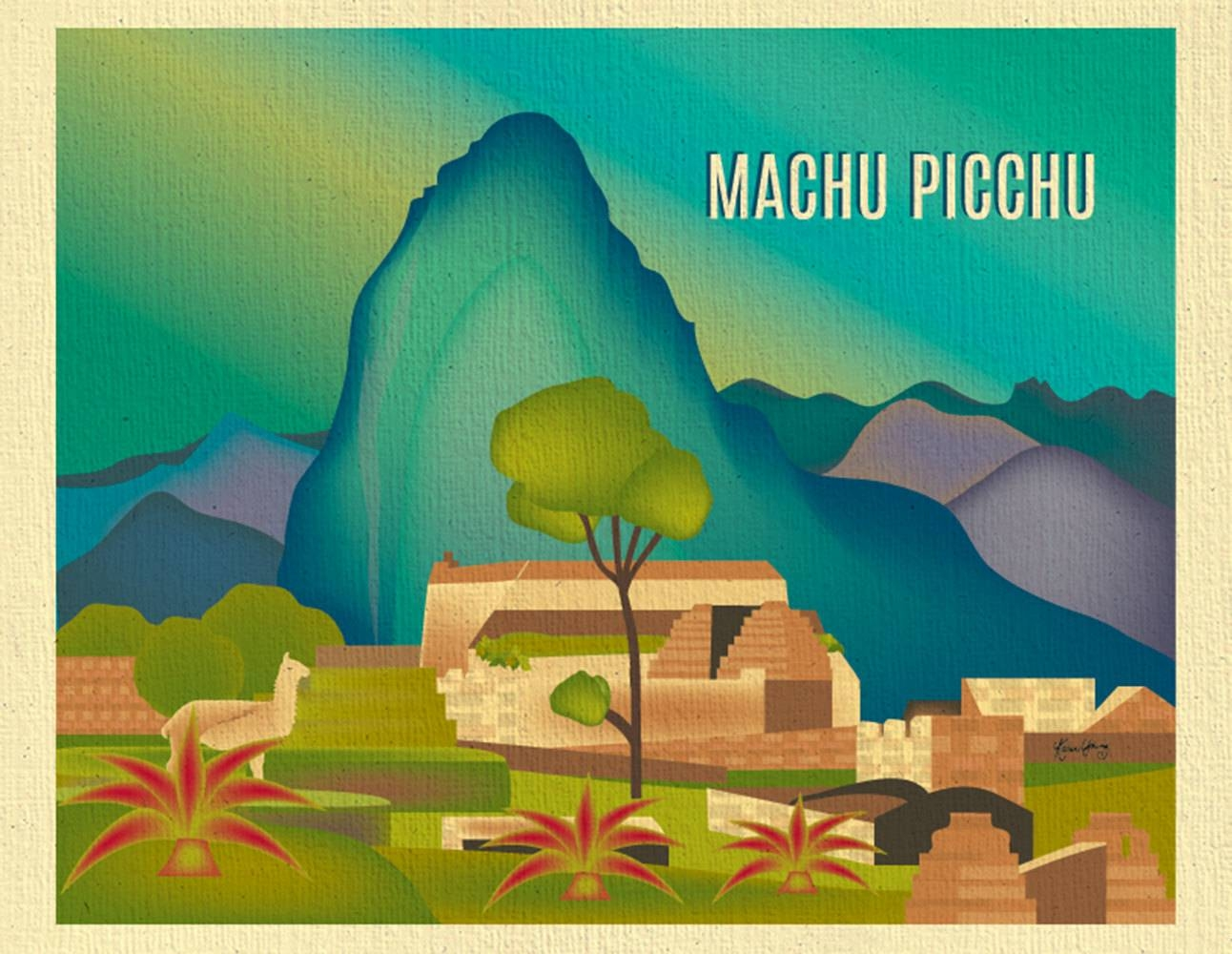 Machu Picchu Skyline Art Print Peru Artwork Loose Petals Within Most Popular Peruvian Wall Art (View 17 of 30)