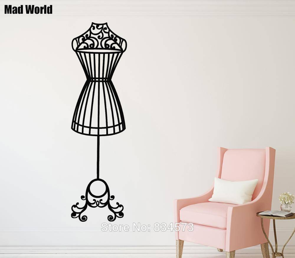 Mad World Elegant Mannequin Silhouette Wall Art Stickers Wall Regarding Current Mannequin Wall Art (View 12 of 20)