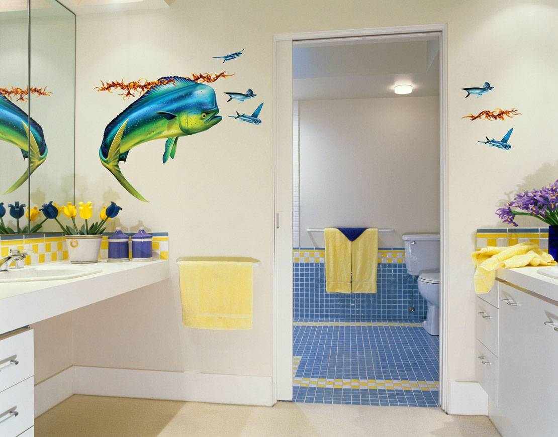 30 Best Ideas of Fish Decals For Bathroom