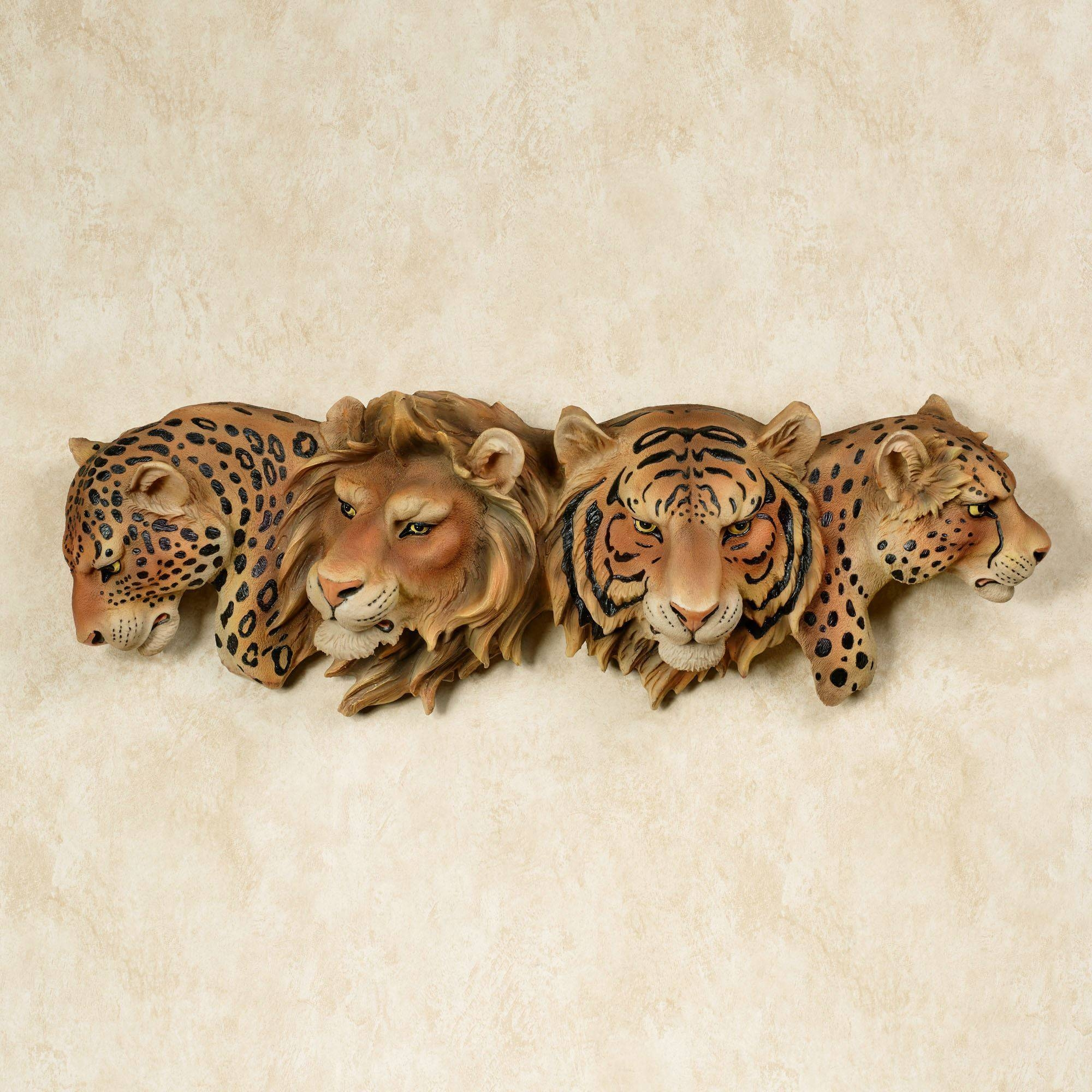Majestic Pride Safari Cats Wall Art Pertaining To Best And Newest Animal Wall Art (View 17 of 25)