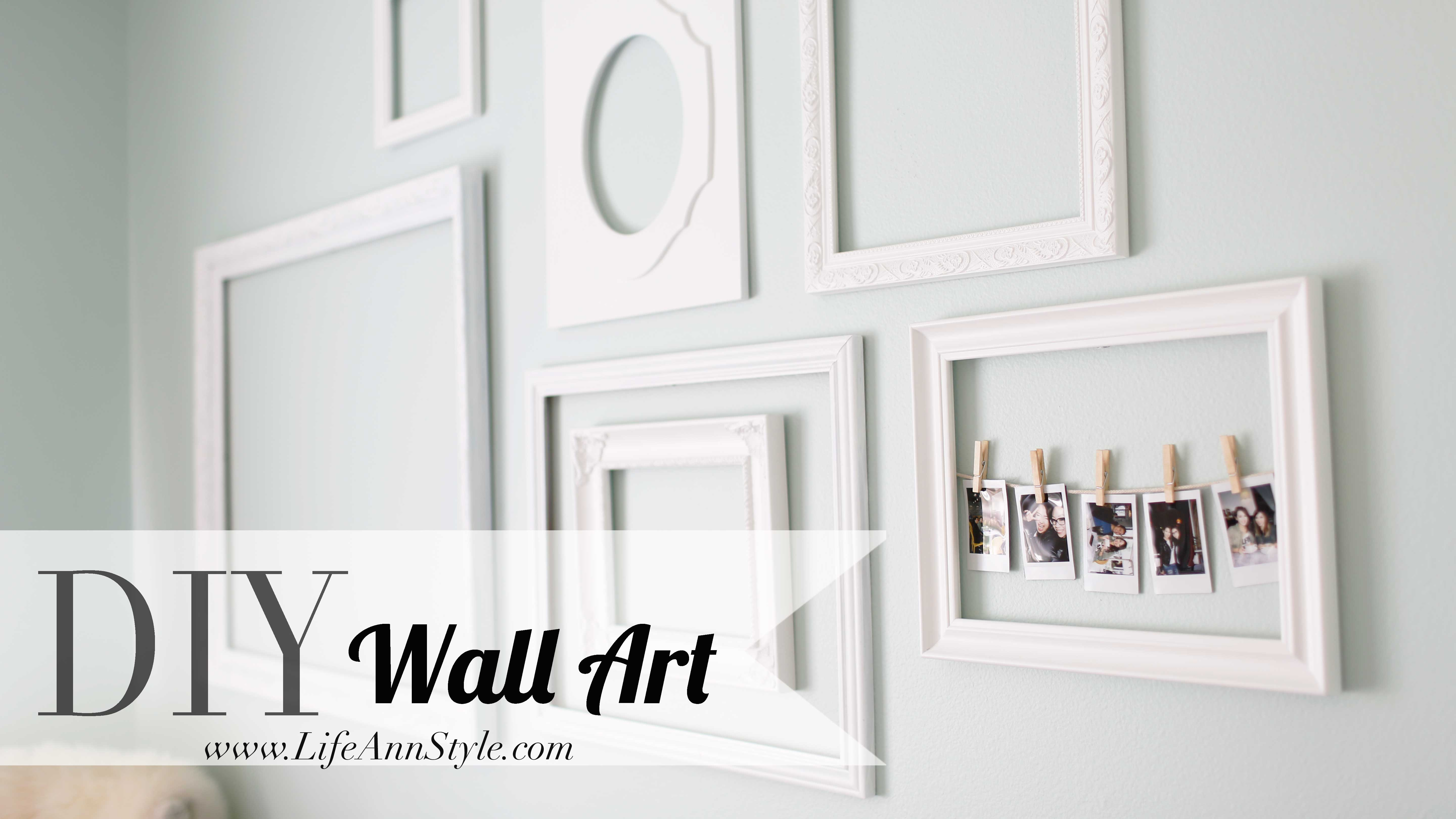Make A Statement With Empty Picture Frames As Wall Art – Ann Le Style With Most Up To Date Wall Art Frames (View 8 of 20)