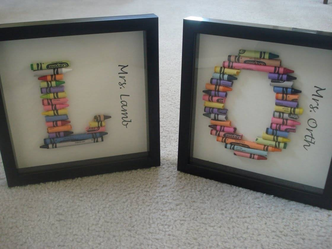 Make Broken Crayon Monogram Wall Art – Dollar Store Crafts Within Best And Newest Framed Monogram Wall Art (View 13 of 20)