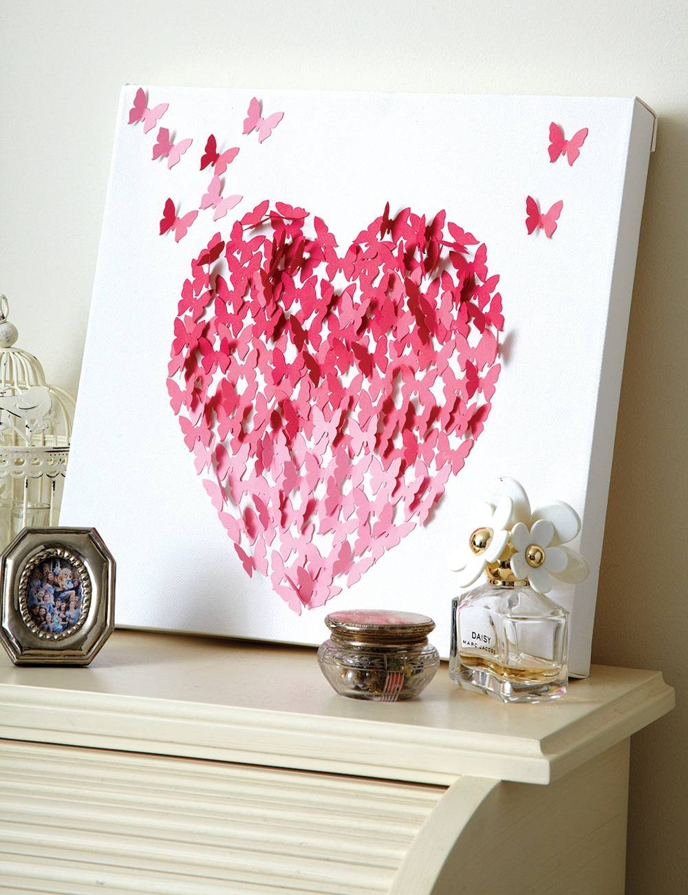 Make Love Heart Canvas Wall Art For Valentine's Day Regarding Most Recently Released Heart 3D Wall Art (View 13 of 20)