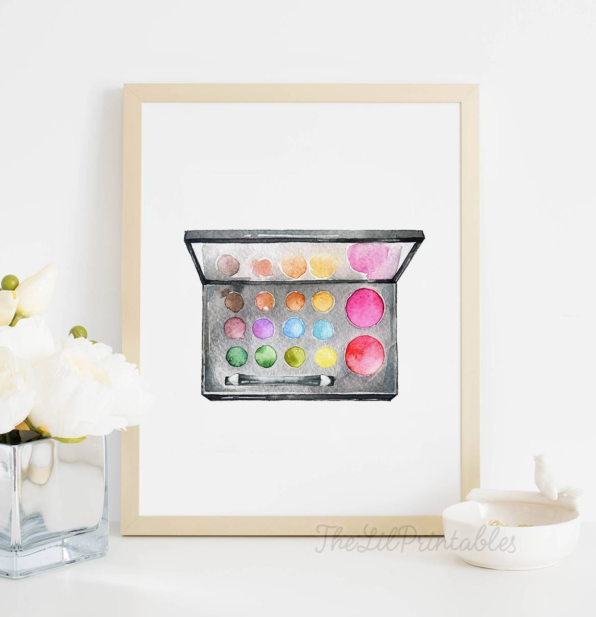 Makeup Palette Printable Makeup Wall Decor Teen Wall Art Inside Recent Teenage Wall Art (View 15 of 30)
