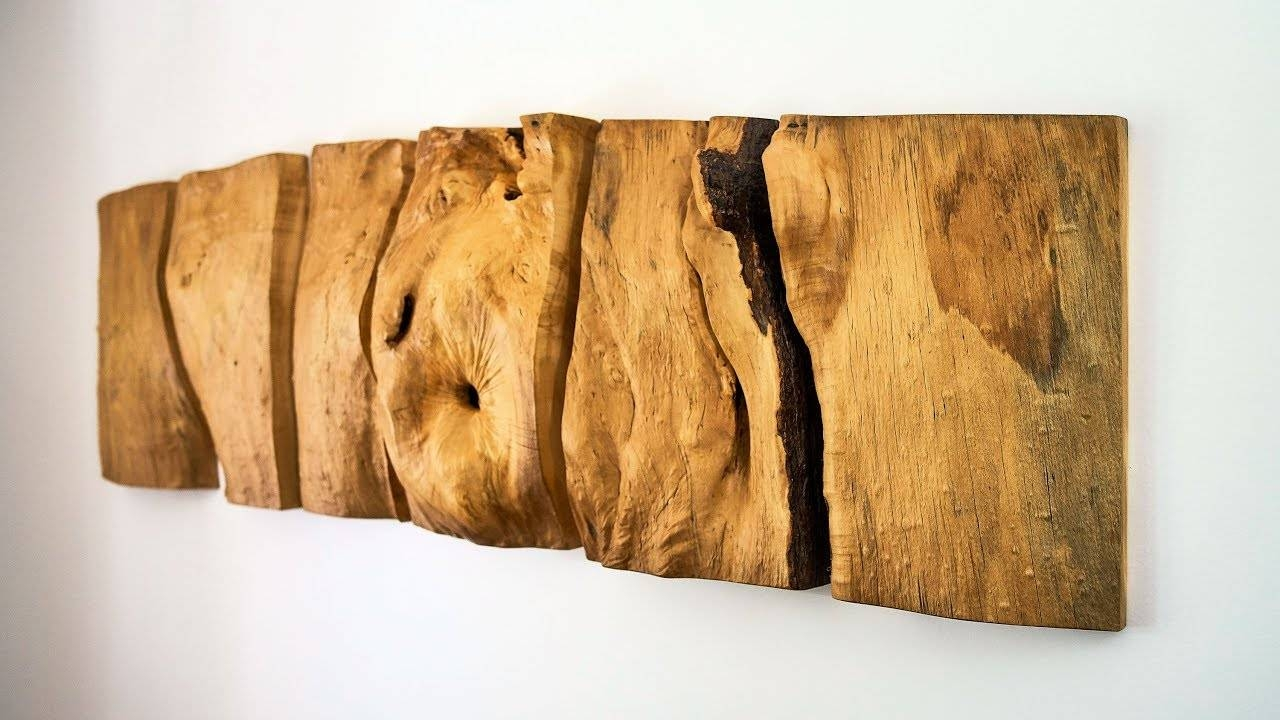 Making A Natural Wood Wall Sculpture – Youtube Regarding Most Recently Released Natural Wood Wall Art (View 3 of 20)