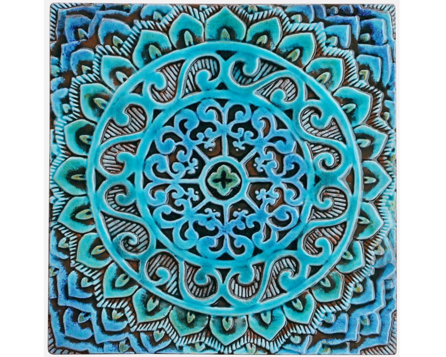 Mandala Wall Hanging Made From Ceramic Exterior Wall Art Inside Latest Large Ceramic Wall Art (View 14 of 25)