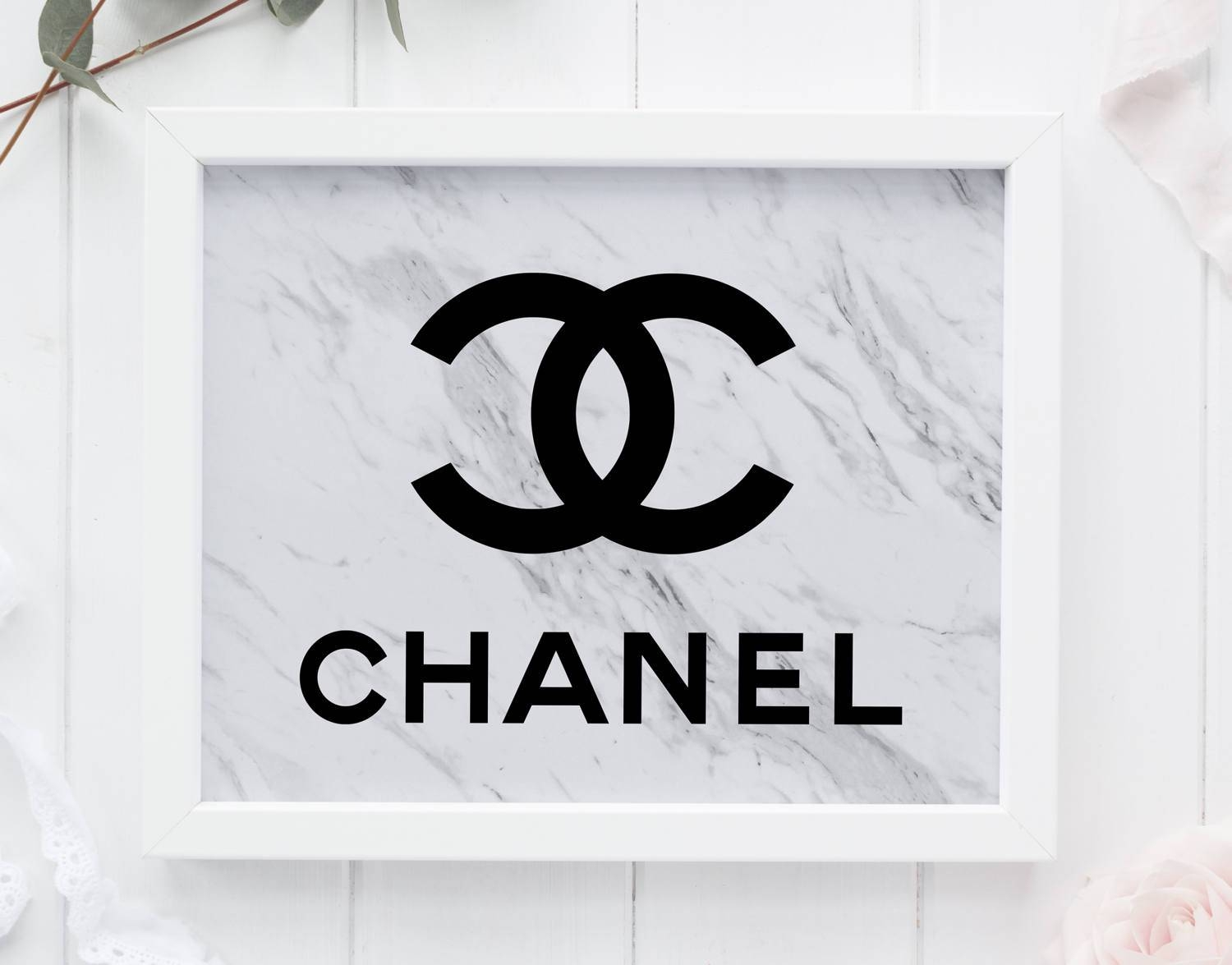 Marble Coco Chanel Tumblr Room Decor Chanel Wall Art Marble In 2017 Coco Chanel Wall Stickers (View 20 of 30)