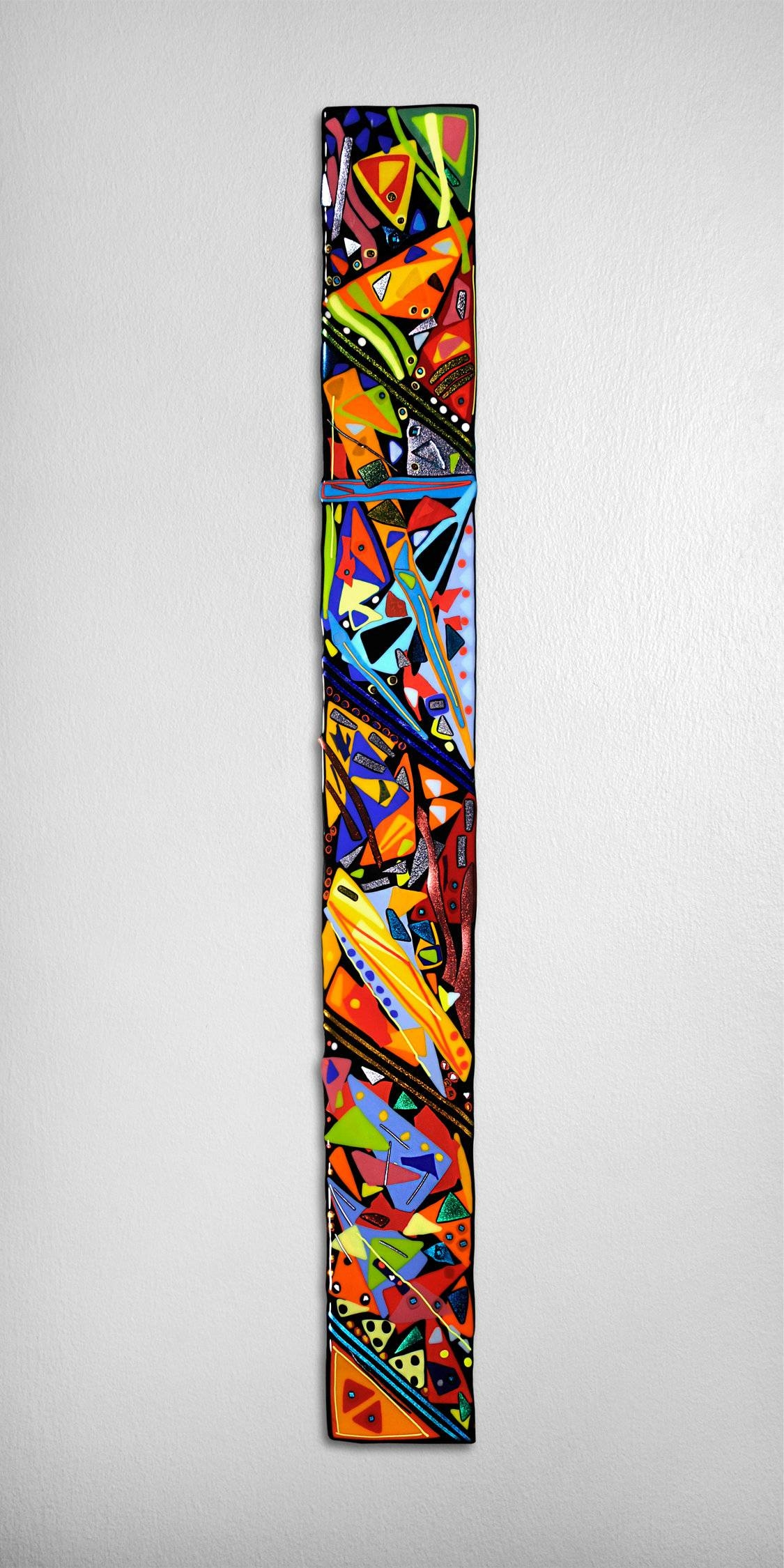 Mardi Gras Wall Panelhelen Rudy (art Glass Wall Sculpture With Regard To Current Glass Wall Art Panels (View 8 of 20)