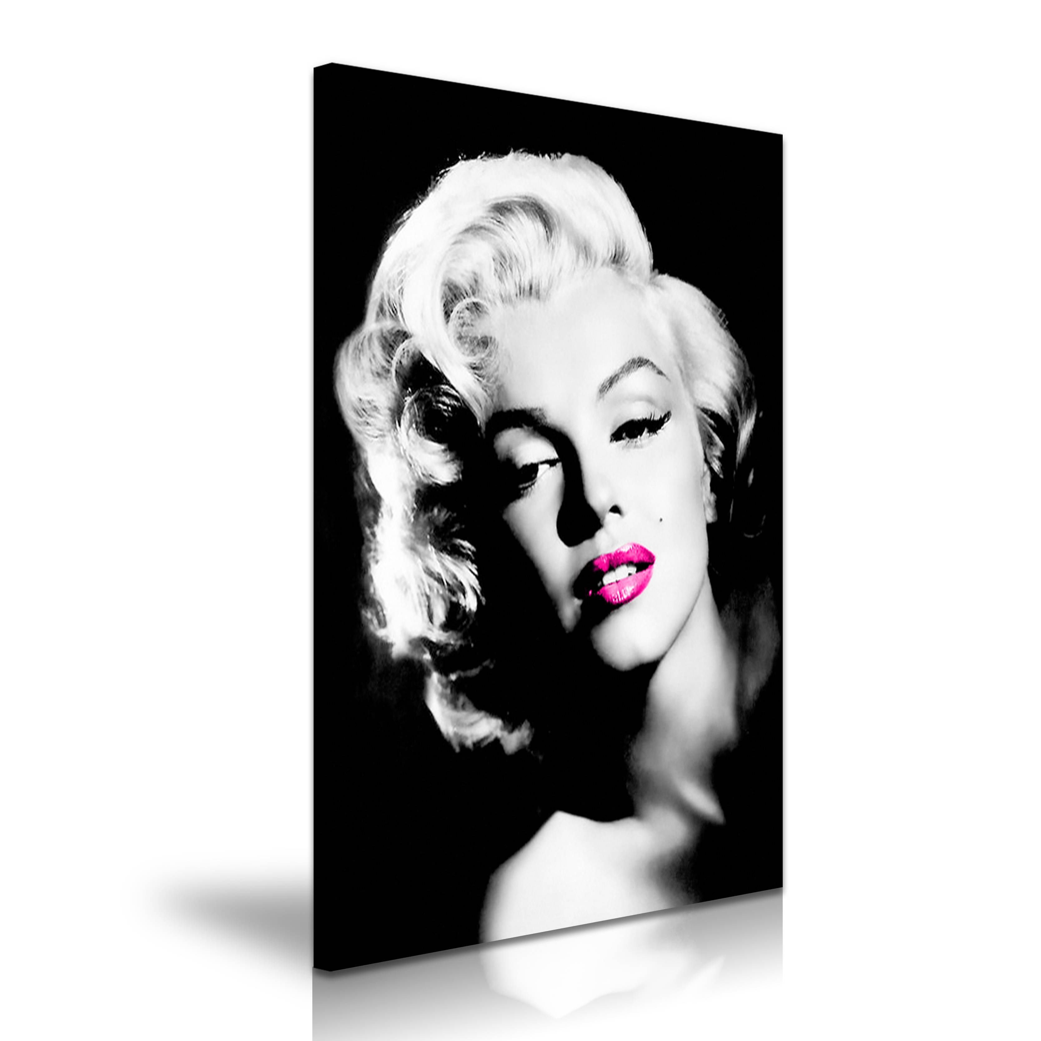 Marilyn Monroe Hollywood Icon Modern Wall Art Canvas Print Framed With Most Up To Date Marilyn Monroe Black And White Wall Art (View 2 of 15)