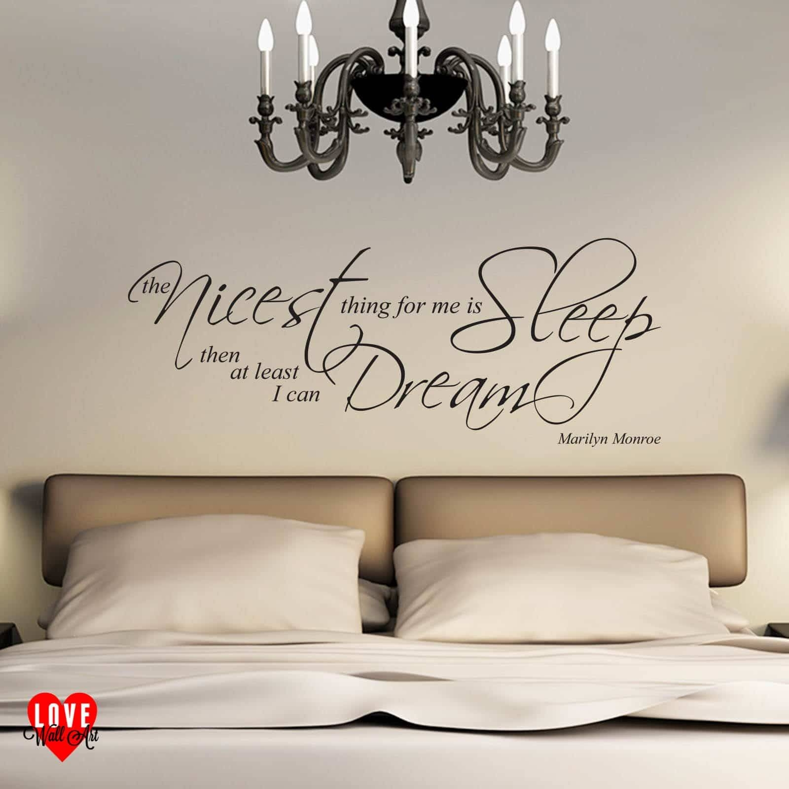 Marilyn Monroe Quote The Nicest Thing For Me Is Sleep Wall Art With Current Marilyn Monroe Wall Art Quotes (View 8 of 25)