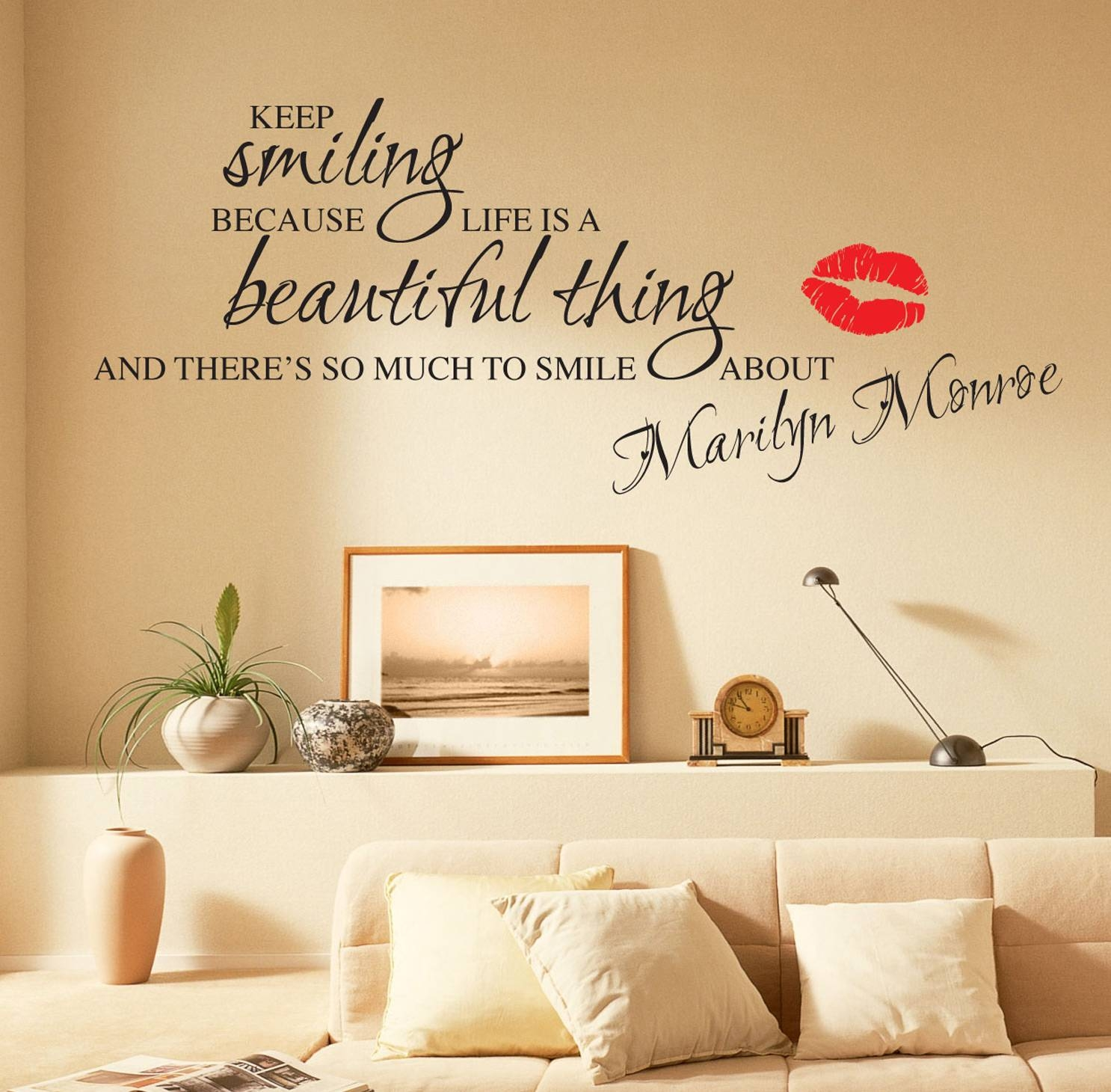 Marilyn Monroe Wall Stickers Quotes Art Decals W55 | Ebay For Most Current Marilyn Monroe Wall Art (View 12 of 25)