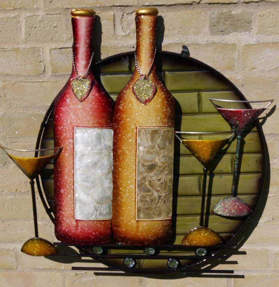 Martini Metal Wall Art With 2017 Wine Metal Wall Art (View 13 of 20)