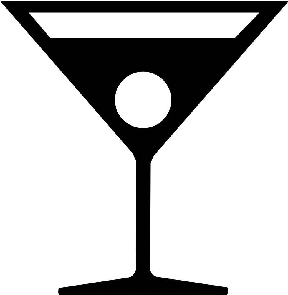 Martini Symbol Vinyl Decal Sticker Car Window Wall Printed | Ebay Intended For Best And Newest Martini Glass Wall Art (View 23 of 30)