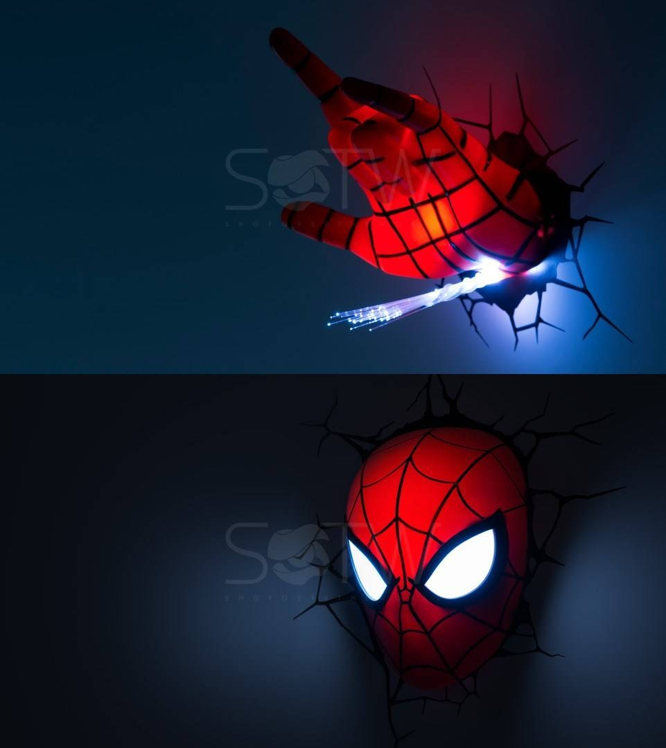 Marvel Avengers Led 3d Wall Night Light Home Deco Comic Super For 2018 Thor Hammer 3d Wall Art (View 13 of 20)