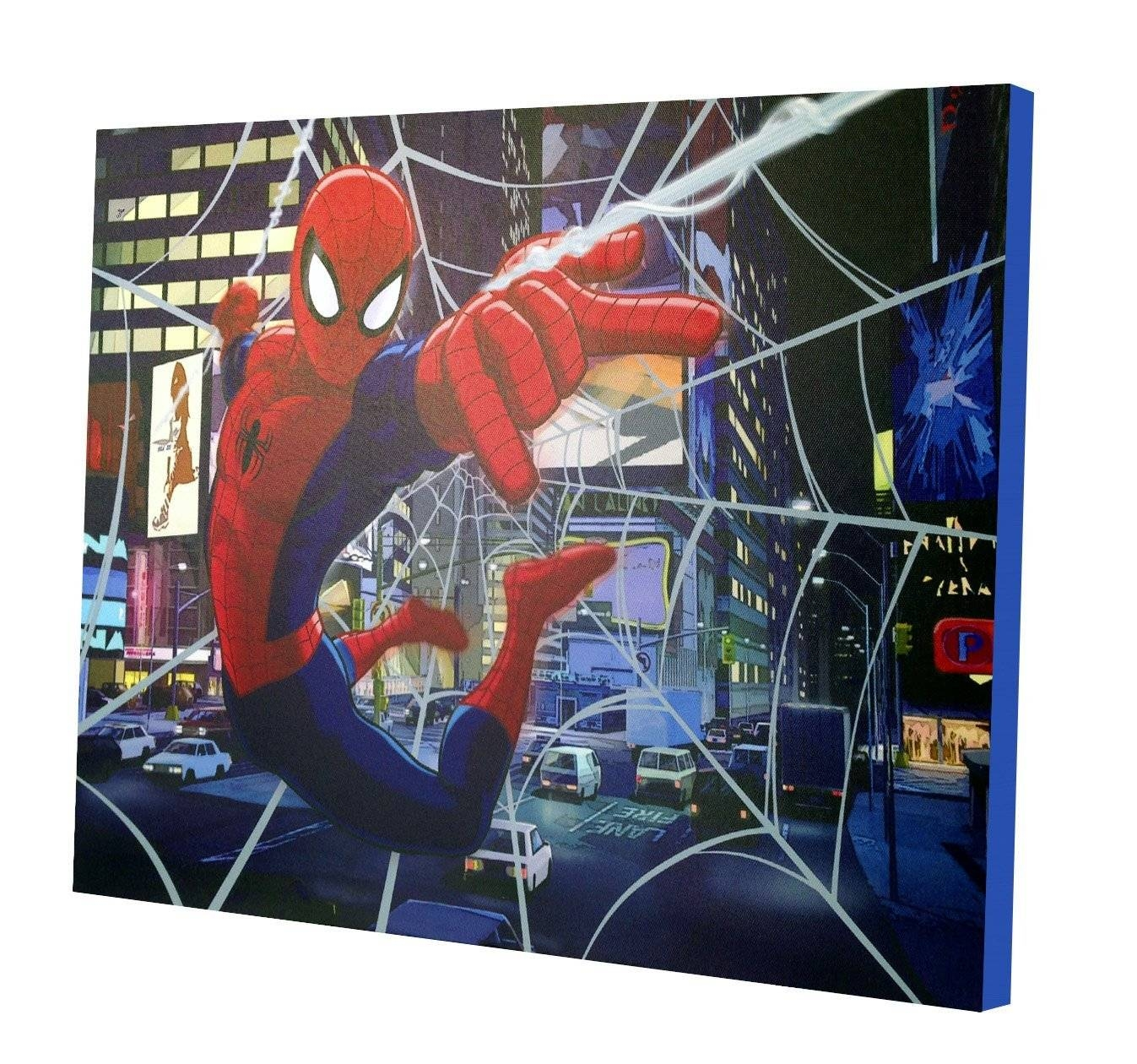 Marvel Spiderman Light Up Canvas Wall Art With Bonus Led Lights Regarding Most Up To Date 3d Wall Art Walmart (View 18 of 20)