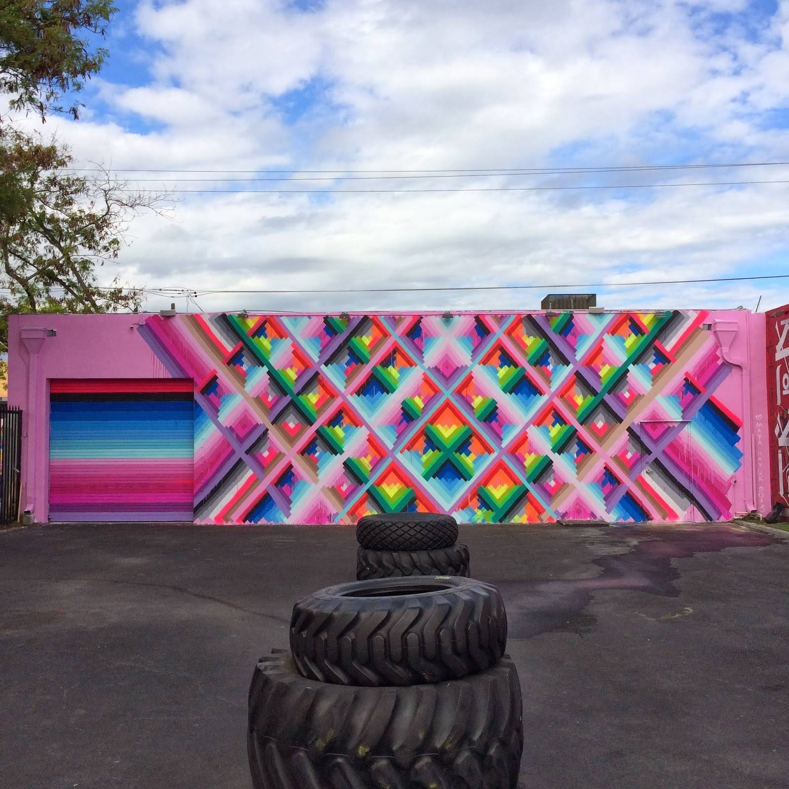 Maya Hayuk New Mural For Art Basel '13 – Wynwood Walls, Miami In Best And Newest Miami Wall Art (View 6 of 20)