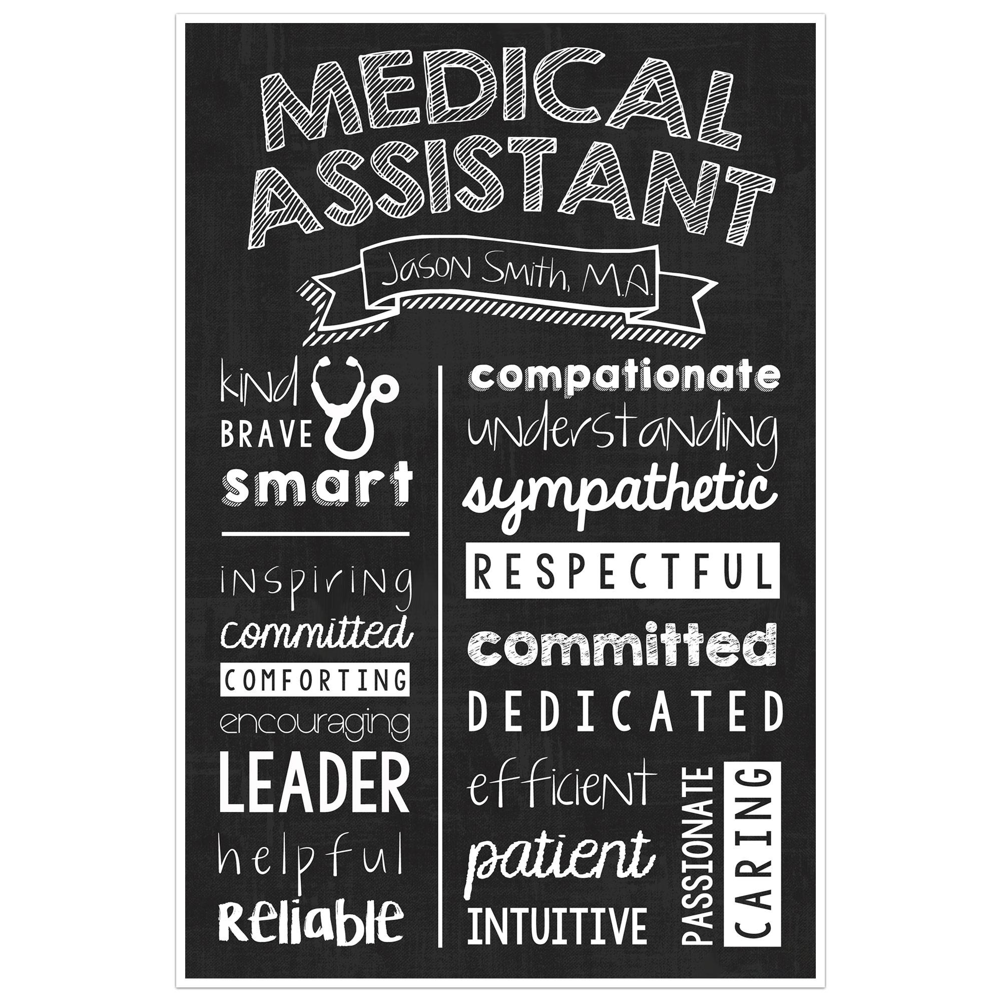 Medical Assistant Chalkboard Wall Art – Medical Assistant Graduate With 2018 Medical Wall Art (View 14 of 20)