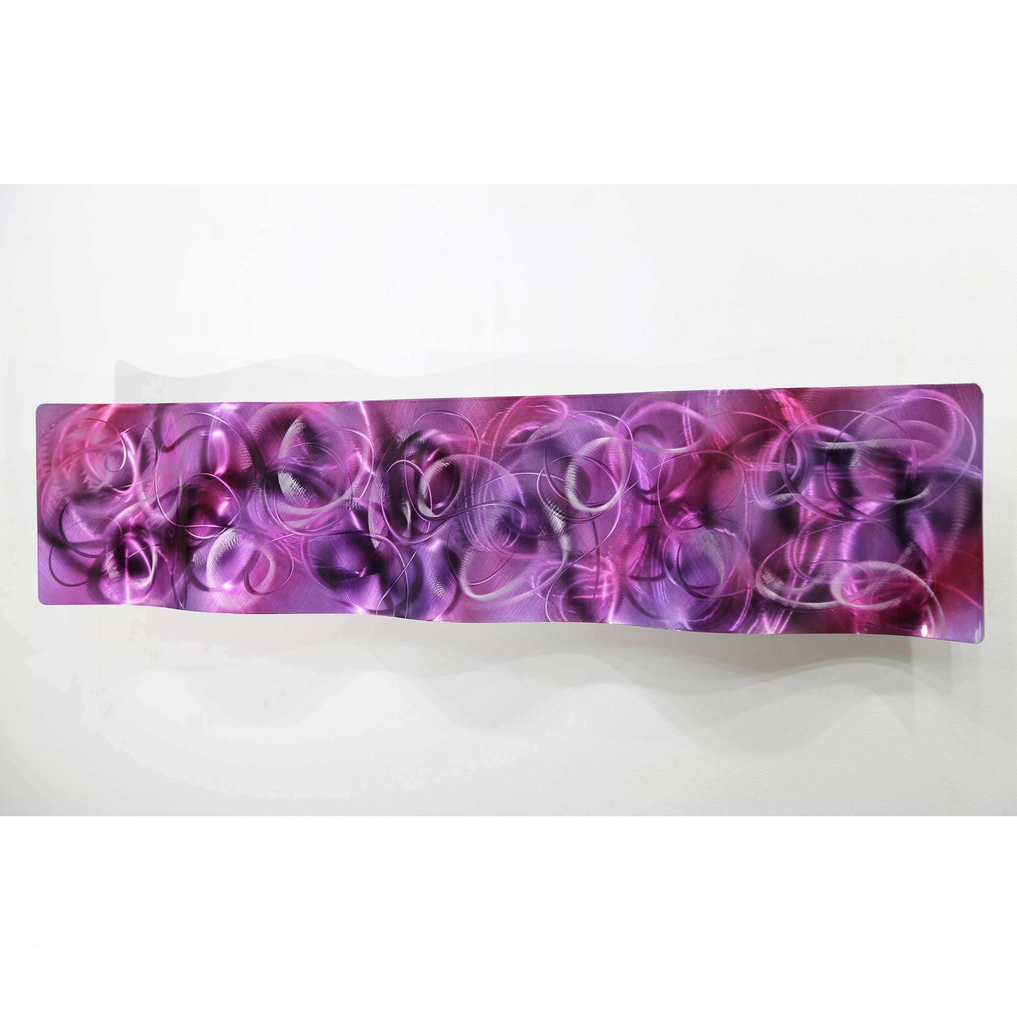 Metal Abstract Modern Painting Wall Art Sculpture Purple Majesty Throughout Most Up To Date Purple Abstract Wall Art (View 3 of 20)