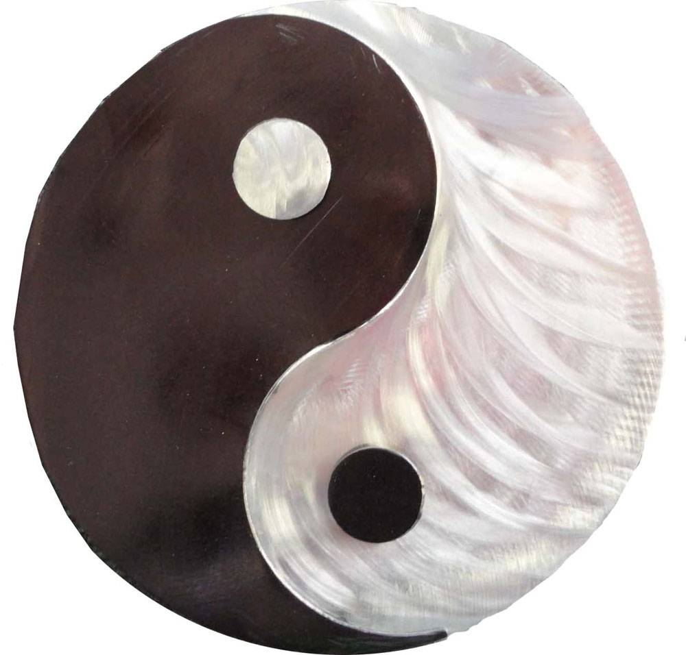 Metal Art Gift: Yin Yang – Transmutation Of Energieskristen Intended For Newest Yin Yang Wall Art (View 13 of 30)