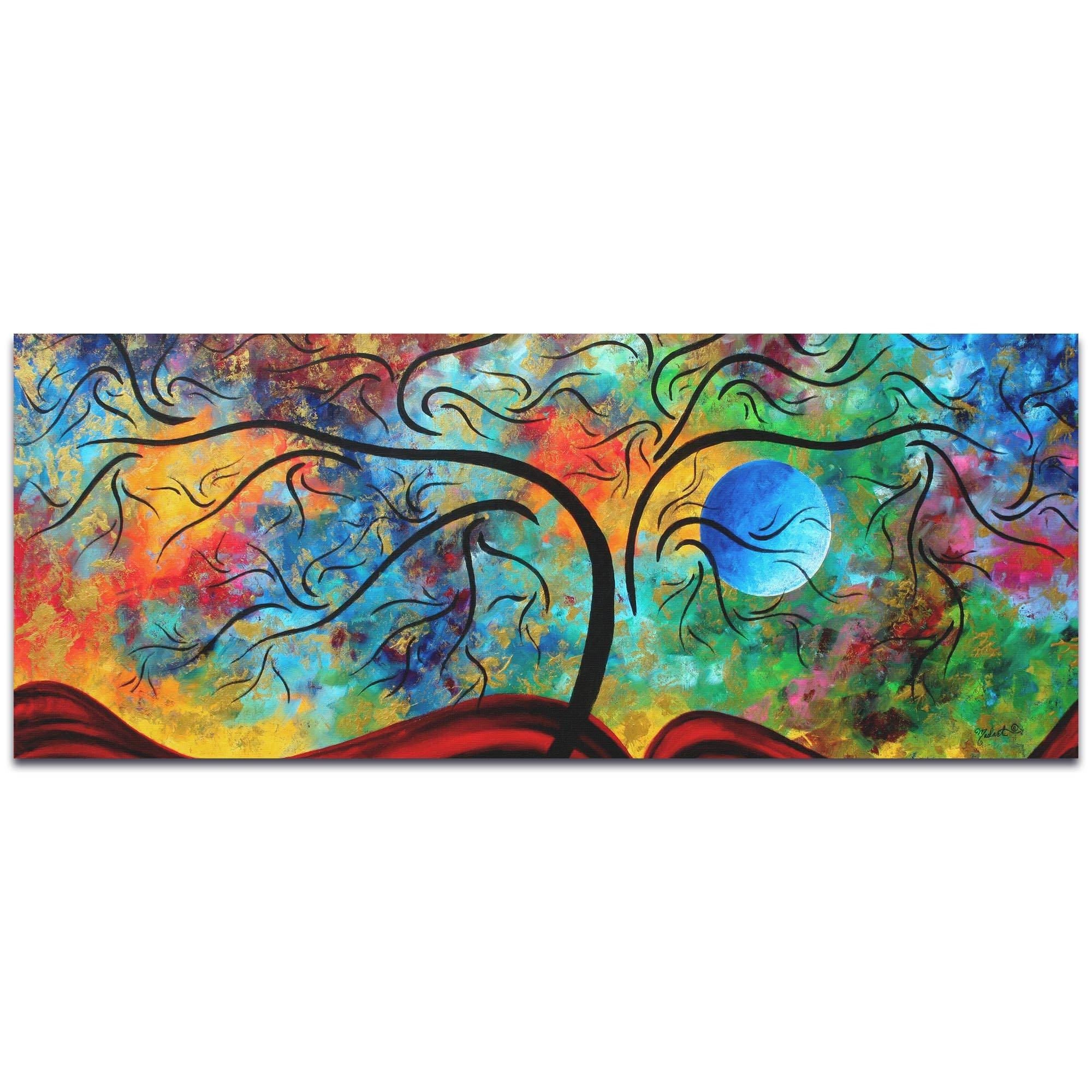 Metal Art Studio – Blue Moon Risingmegan Duncanson – Landscape Intended For Most Up To Date Megan Duncanson Metal Wall Art (View 13 of 25)