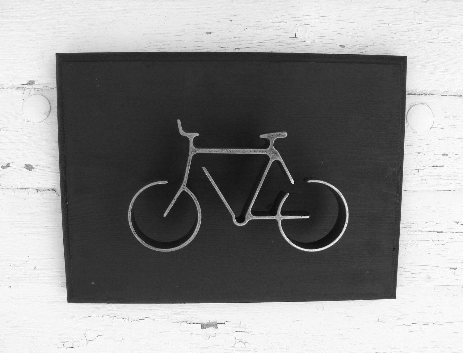 Metal Bike Wall Art Sign Bicycle Wall Hanging Home Or Office Pertaining To Best And Newest Bicycle Wall Art Decor (View 11 of 20)