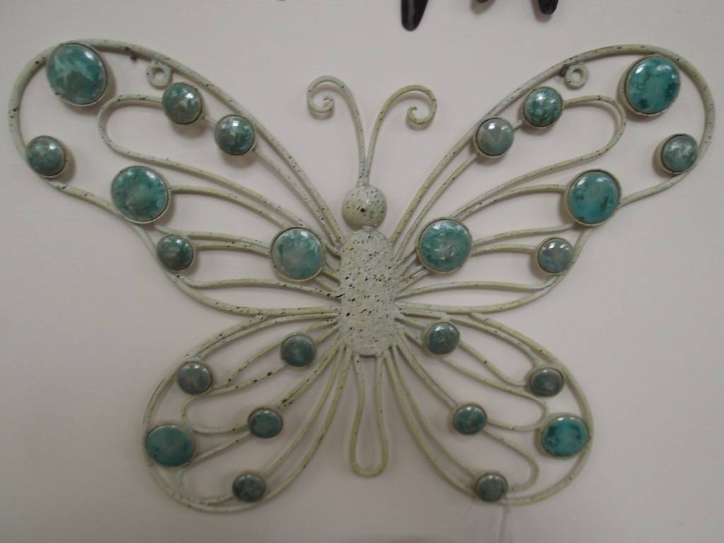 Metal Butterfly Wall Decor Intended For Most Up To Date Large Metal Butterfly Wall Art (View 3 of 25)