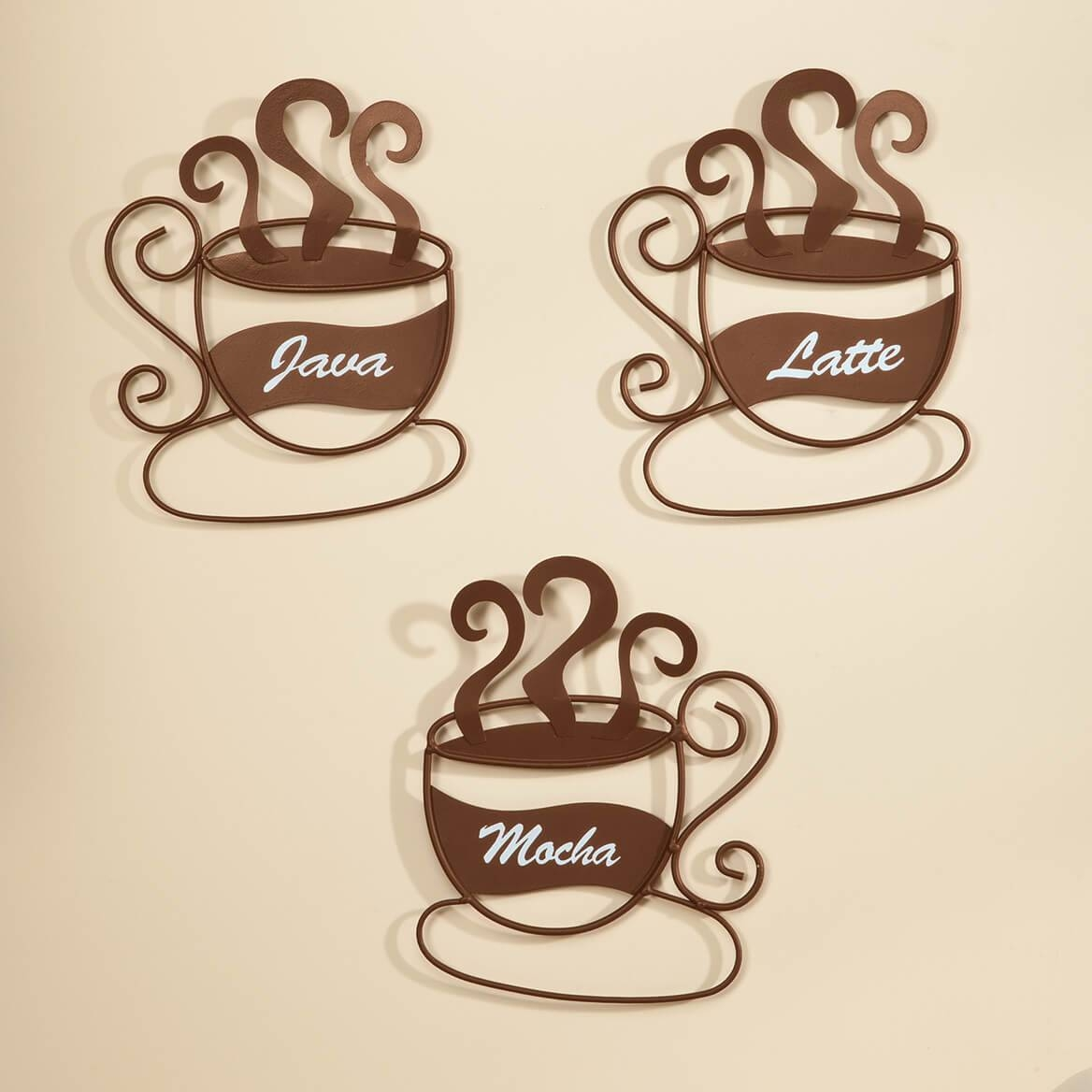 Metal Coffee Cup Wall Art, Set Of 3 – Metal Wall Art – Miles Kimball With Most Recent Metal Coffee Cup Wall Art (View 14 of 20)