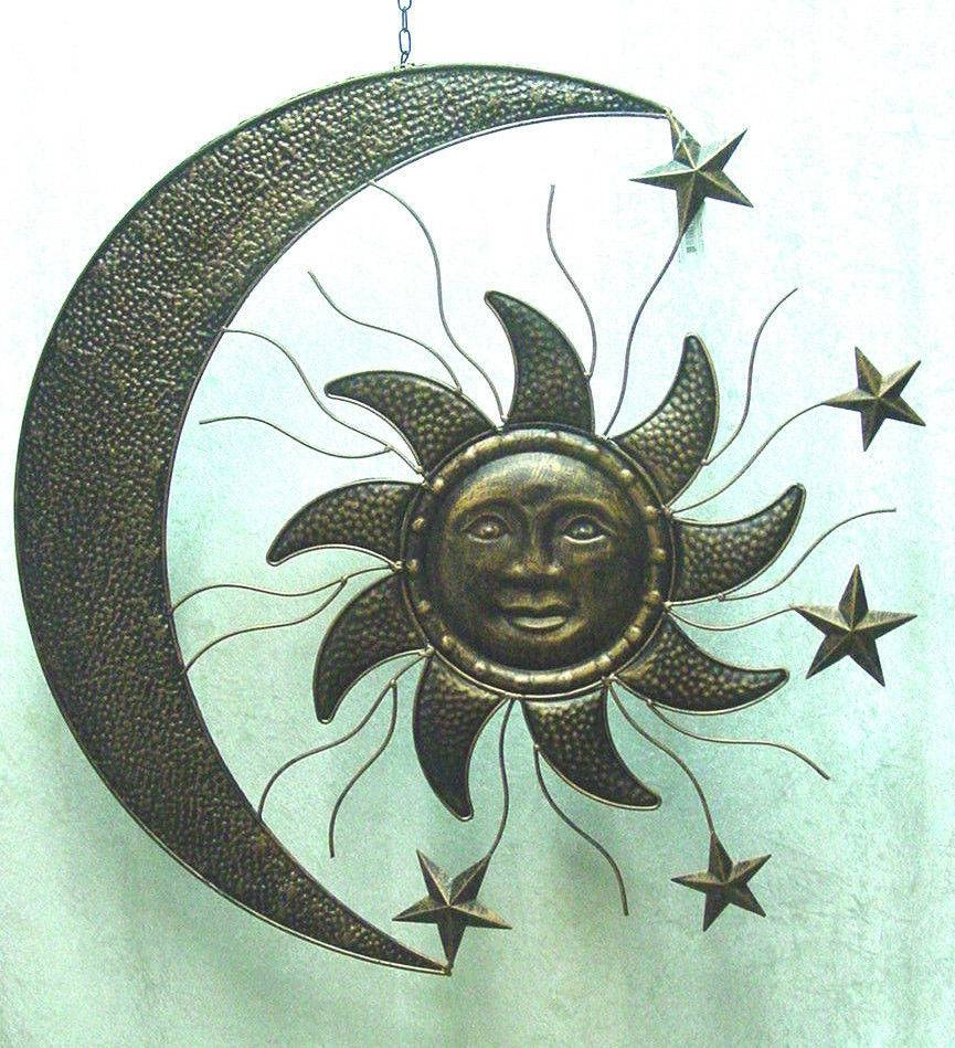 Metal Copper Sun Face Sunflower Yard Art Garden Wall Decor Large With Most Recent Metal Sunflower Yard Art (View 12 of 26)