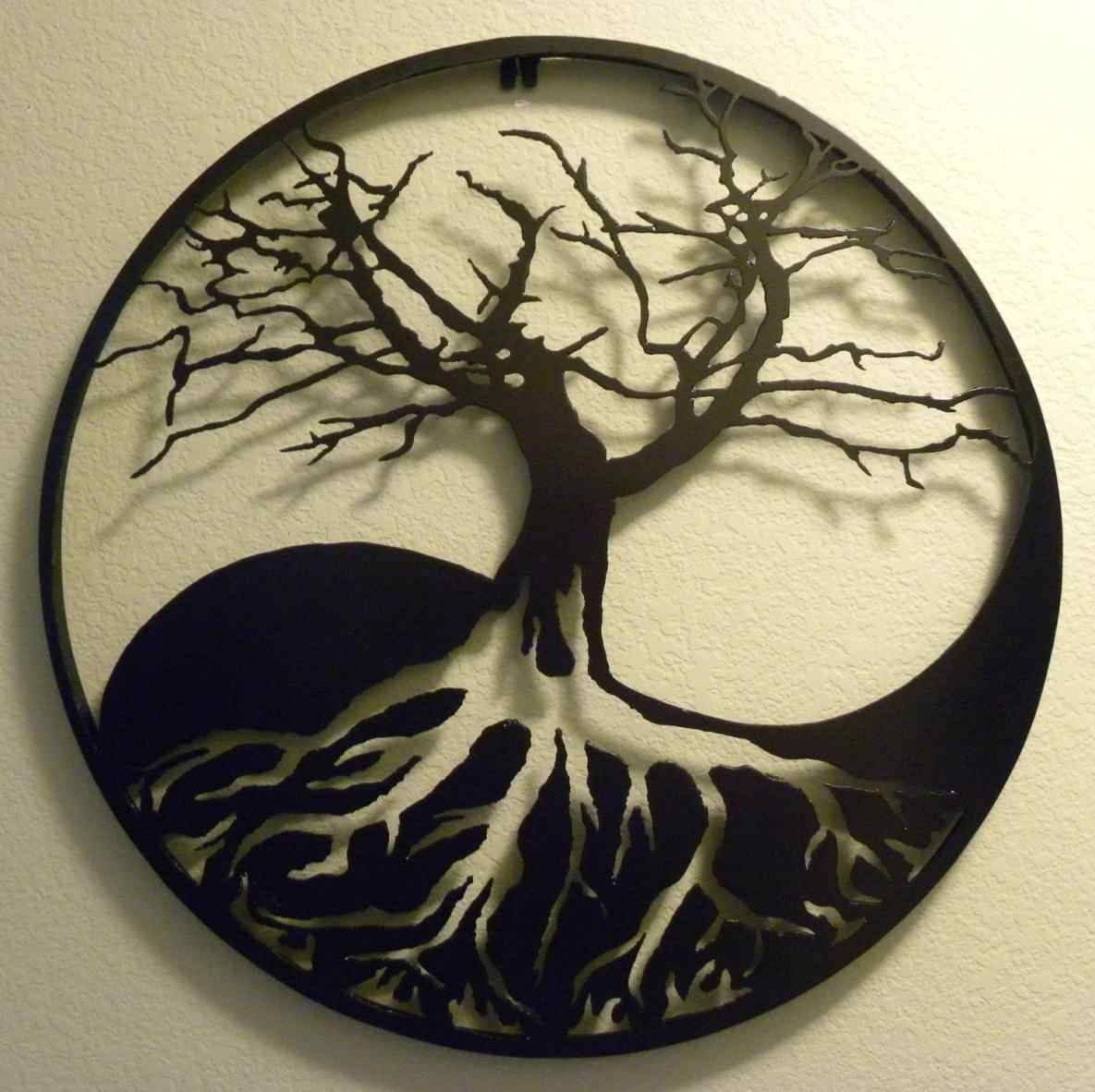 Metal Oak Tree Wall Art | Home Interior Decor Throughout Newest Oak Tree Wall Art (View 12 of 30)