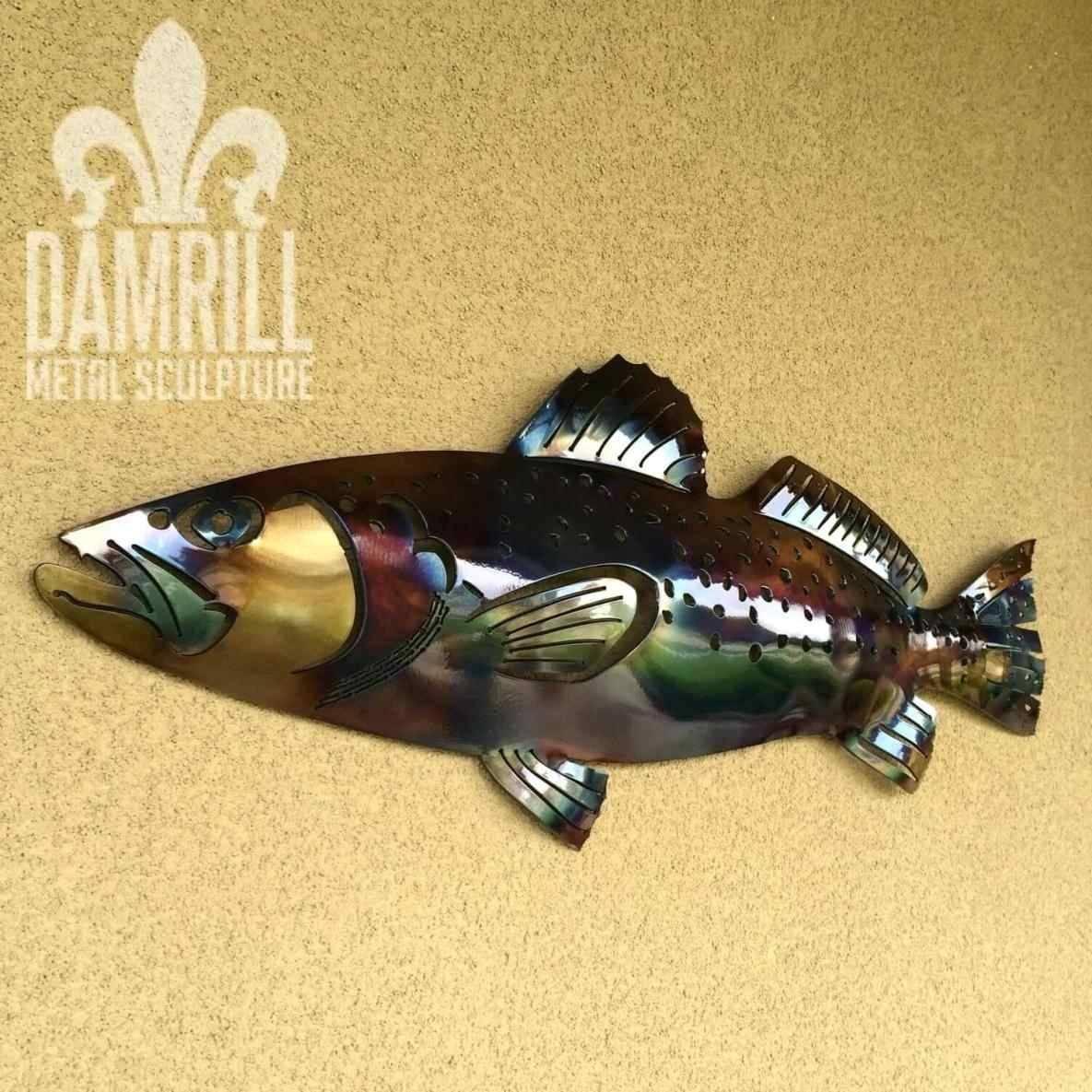 Metal Wall Art Fish Shoal | Home Interior Decor Inside Newest Fish Shoal Metal Wall Art (Gallery 18 of 30)