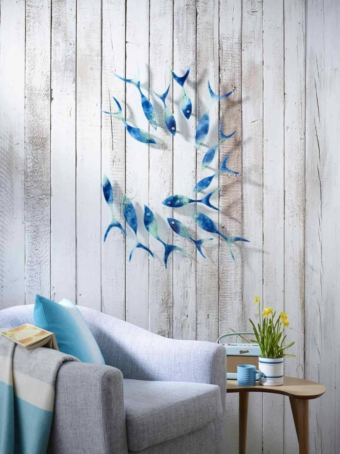 Metal Wall Art Fish Shoal | Home Interior Decor Throughout Best And Newest Shoal Of Fish Metal Wall Art (View 13 of 30)