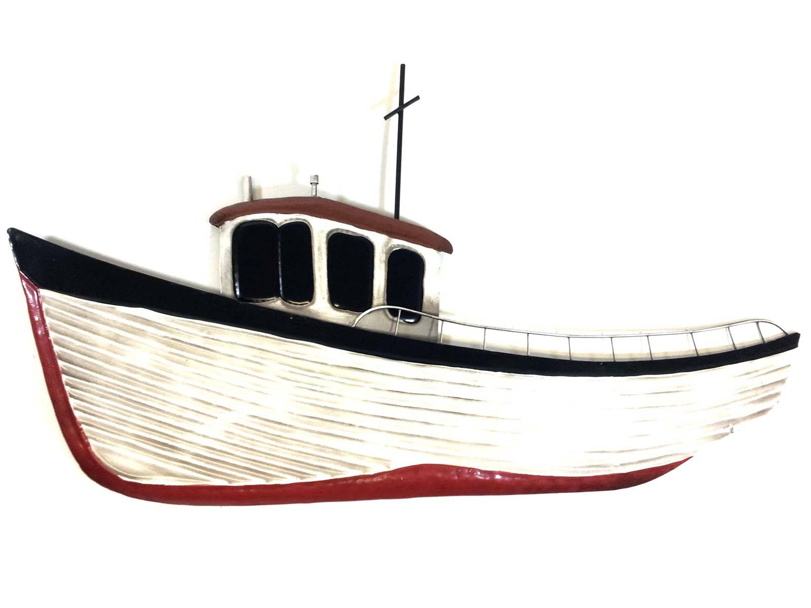 Metal Wall Art – Fishing Boat Intended For Most Recently Released Boat Wall Art (View 14 of 20)