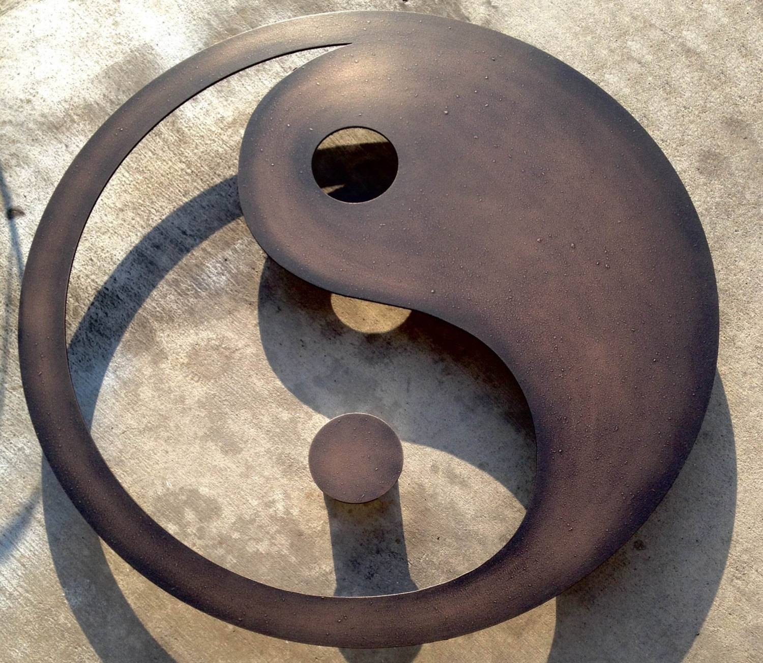 Metal Wall Art For The Home Or Officeinspiremetals On Etsy With Most Recently Released Yin Yang Wall Art (View 14 of 30)