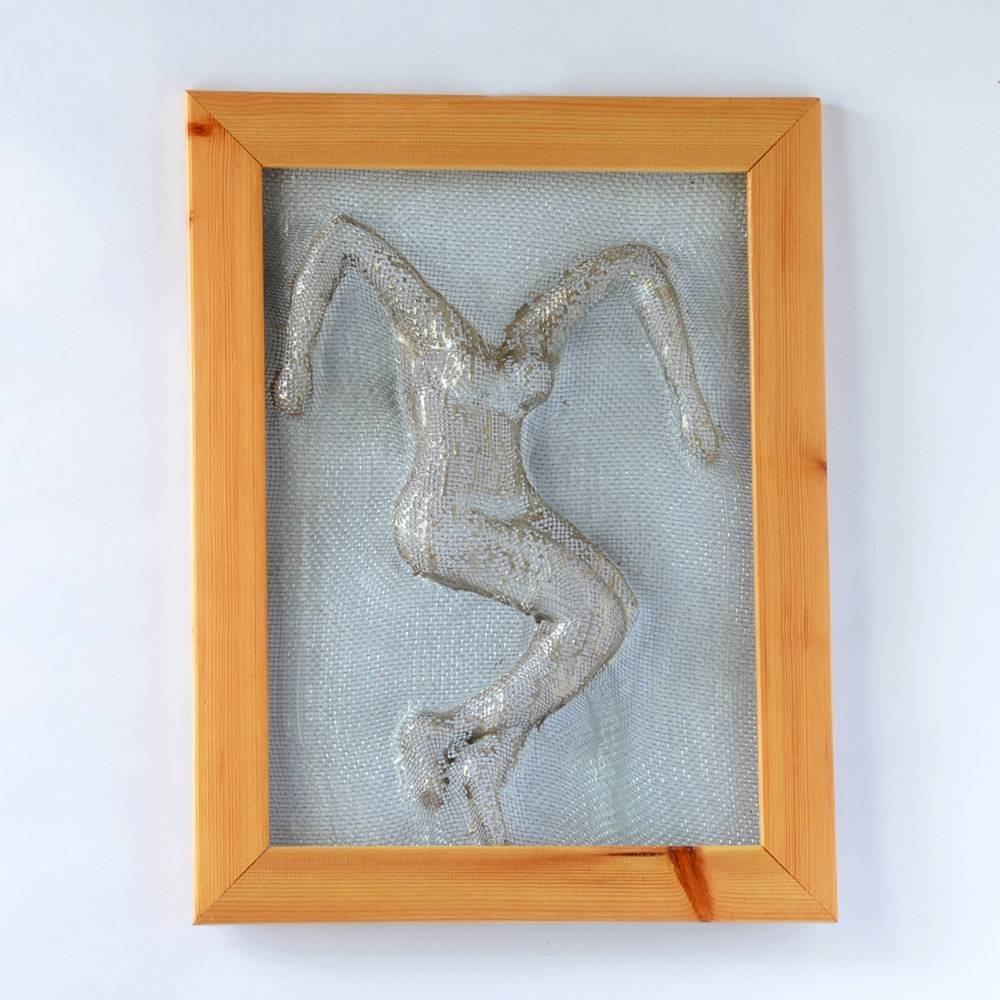 Metal Wall Art Framed Art Home Decor Wire Mesh Sculpture Throughout Current Metal Framed Wall Art (View 12 of 20)