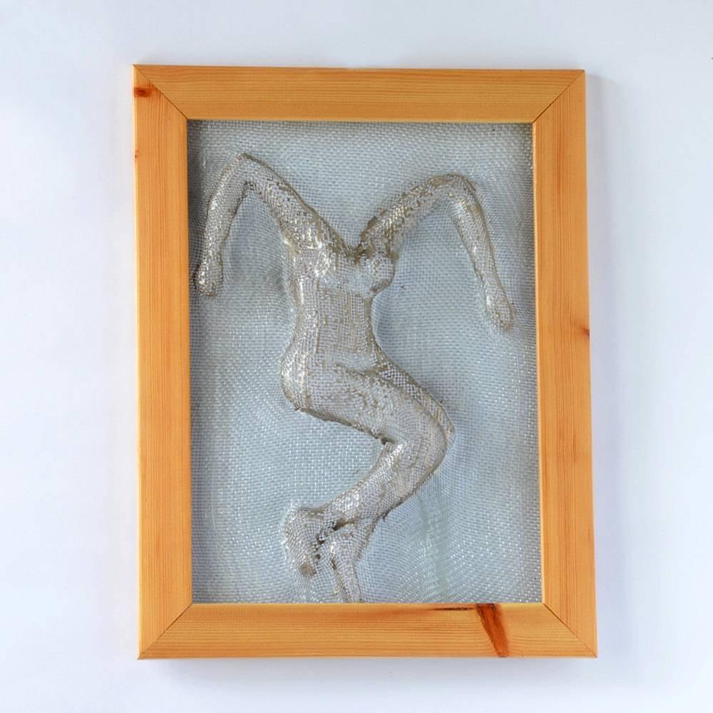 Metal Wall Art Framed Art Home Decor Wire Mesh Sculpture Throughout Current Metal Framed Wall Art (View 13 of 20)