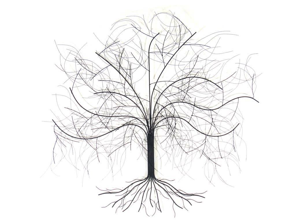 Metal Wall Art – Large Oak Tree Pertaining To Latest Metal Oak Tree Wall Art (View 3 of 30)