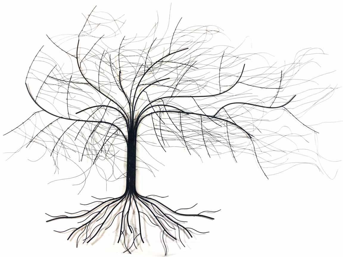 Metal Wall Art – Large Windy Oak Tree With Regard To 2018 Oak Tree Metal Wall Art (View 8 of 30)