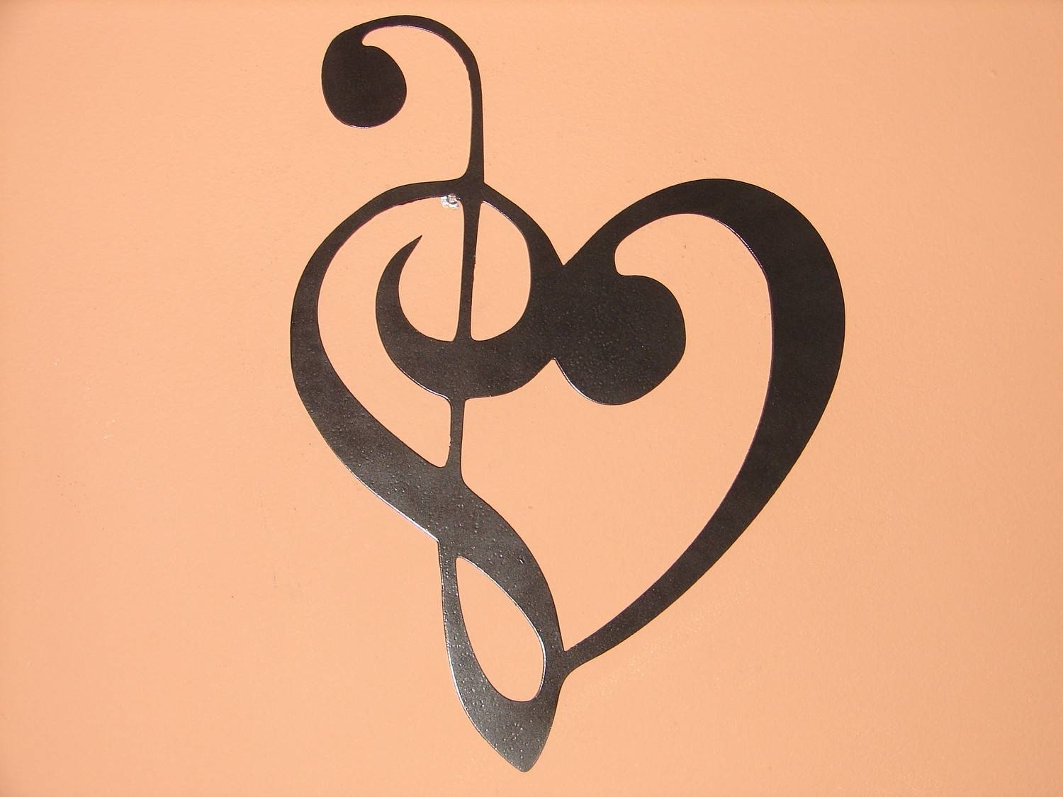 Metal Wall Art Music Heart Notes Musical Treble Clef For 2017 Metal Music Notes Wall Art (View 14 of 20)