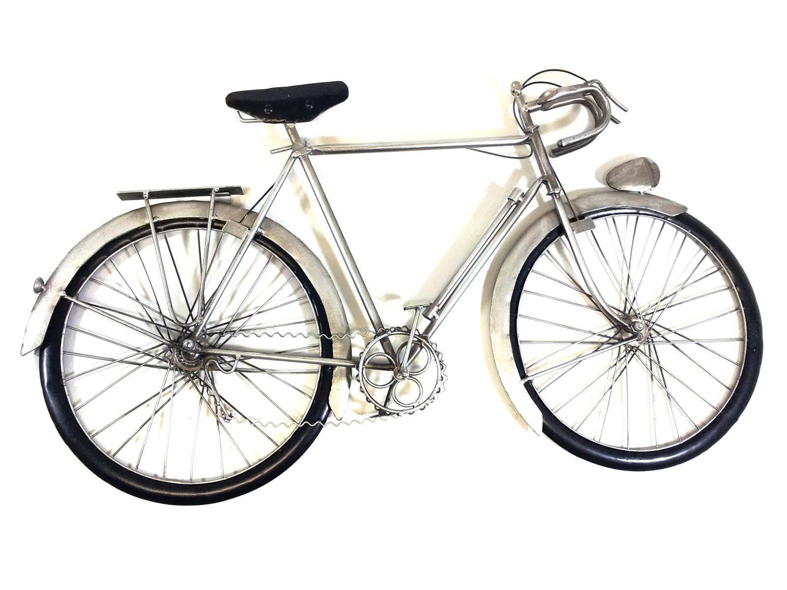 Metal Wall Art – Silver Racing Bike Regarding Latest Bicycle Metal Wall Art (View 9 of 20)