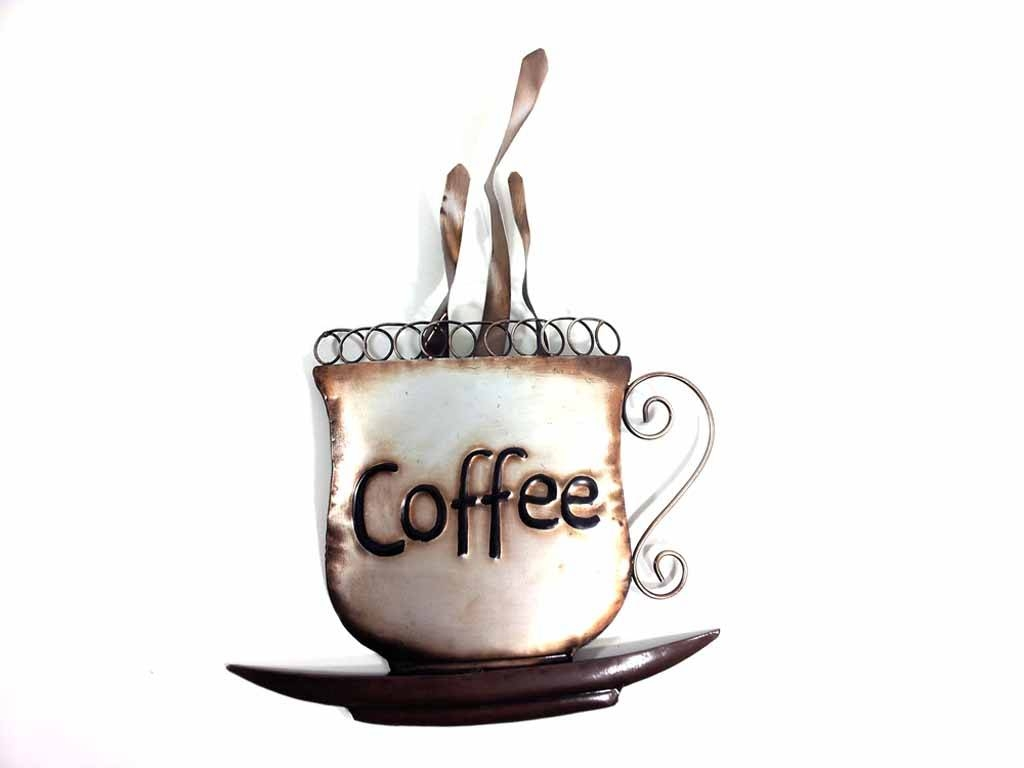 Featured Photo of Metal Coffee Cup Wall Art
