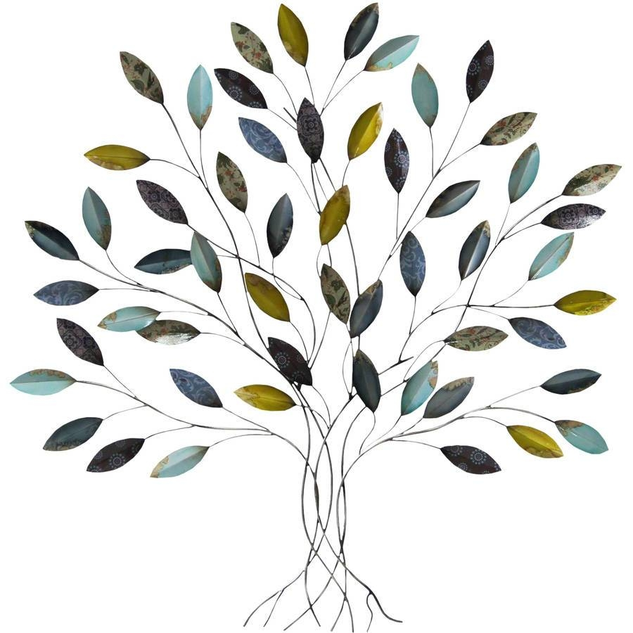 Metal Wall Art – Walmart Within Latest Metal Wall Art Trees And Branches (View 6 of 18)