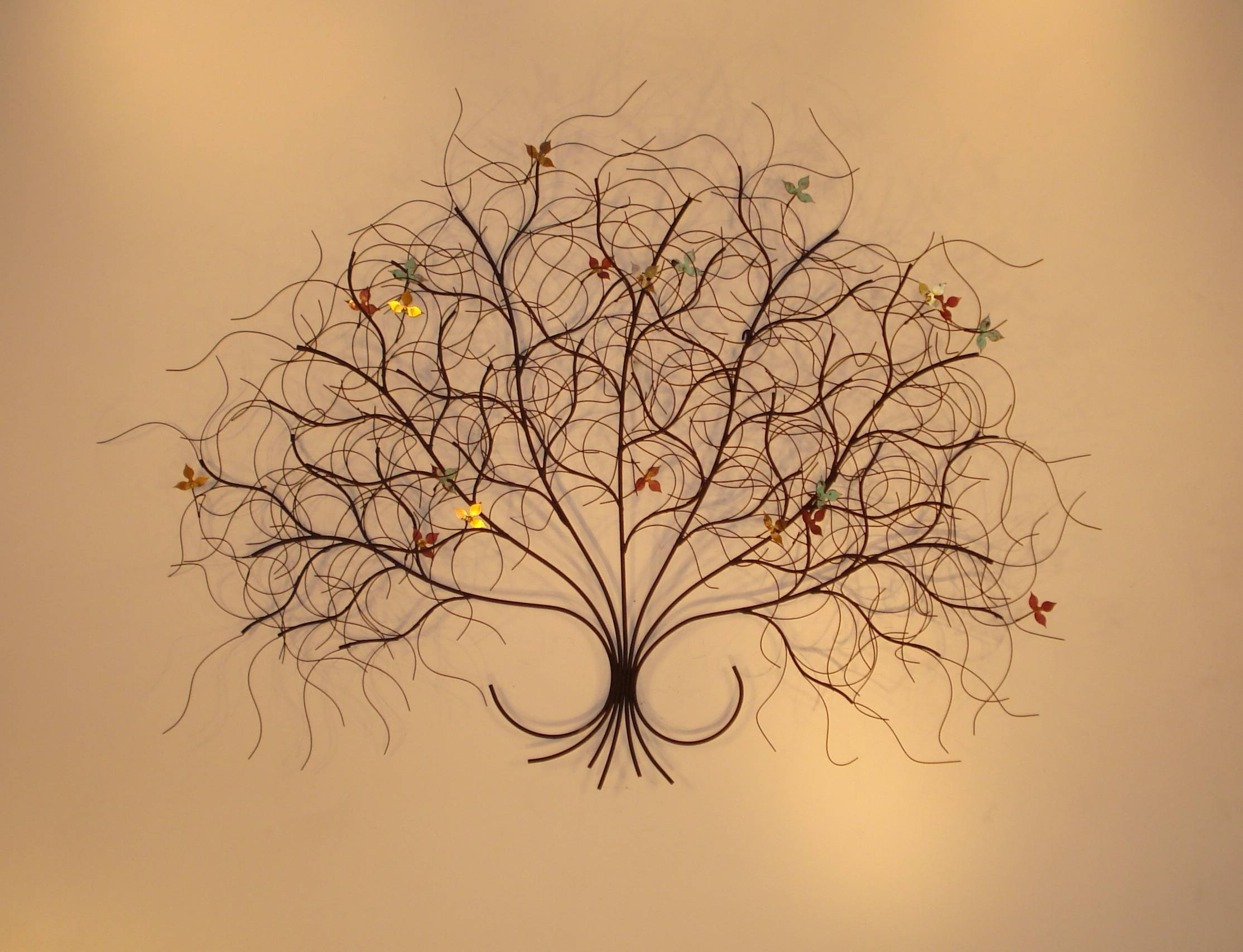 Metal Wall Sculptures And Wall Art – Branches | Gurtan Designs Within Current Botanical Metal Wall Art (View 18 of 25)