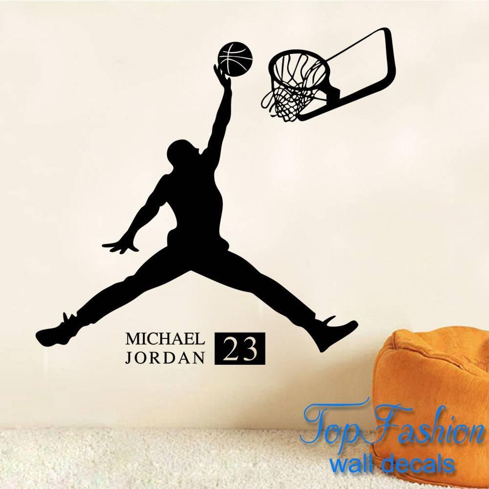 Michael Jordan Wall Decal | Roselawnlutheran Within Most Popular Nba Wall Murals (View 13 of 25)