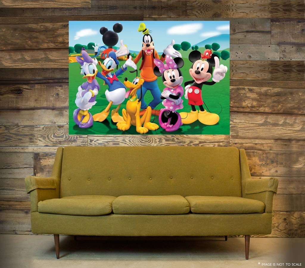 Mickey Mouse Clubhouse Wall Art – One Piece Poster (A1 – A5 Sizes Within Most Recent Mickey Mouse Clubhouse Wall Art (View 9 of 20)